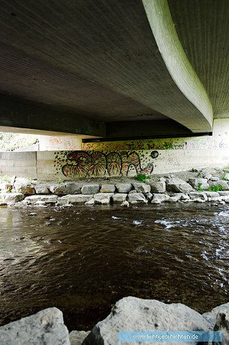 photo _ ansichten architektur beton brücke fluss graffiti